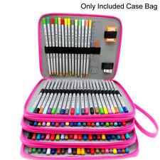 US 184 Slots Pencil Case Organizer Foldable Pen Storage Box Bag Large Capacity