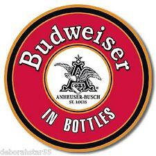 Budweiser In Bottles Vintage Retro Beer Pub Advertising Metal Tin Sign New  1157
