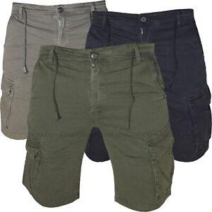 Bermuda Uomo Cargo Pantaloni corti Tasche Laterali pantaloncini con Tasconi 1922