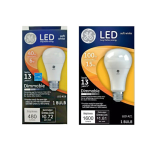 LED GE Bulb Soft White Lumens Dimmable 67500 65935