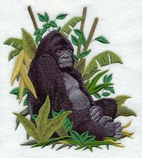 Embroidered Long-Sleeved T-Shirt - Mountain Gorilla C8178
