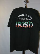 I FORGIVE YOU FOR NOT BEING IRISH GREEN  SHORT SLEEVE T-SHIRT SIZE MED NEW