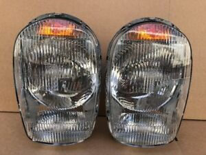 Pair of Euro Style Headlights W/ Bosch Lens for Mercedes 230SL 250sl 280sl w113