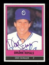 DAVE SCHULER 1986 TCMA Omaha Royals SIGNED AUTOGRAPH Baseball Card