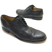 THE FRYE COMPANY Black Leather Wingtip Oxford Lace Up  Shoes Men's SZ 13