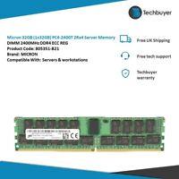 Micron 32GB (1x32GB) PC4-2400T 2Rx4  DIMM 2400MHz DDR4 - MTA36ASF4G72PZ-2G3