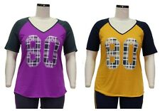 Womens Plus Size Colorblock Numbered Graphic Tee - Size -1X-2X-3X