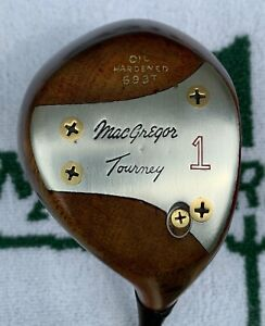 VINTAGE MACGREGOR TOURNEY TOMMY ARMOUR 693 OIL HARDENED PERSIMMON DRIVER