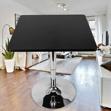 Home Indoor Square Bar Table Adjustable Bistro Pub Counter Top Swivel Black