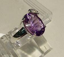 Unbranded Amethyst Cocktail White Gold Fine Rings