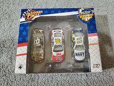 Winner's Circle 1:87 NASCAR American Heros Stock Car Set Navy,Coast Guard,Camo
