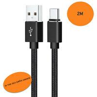 USB C Kabel Ladekabel für Original Samsung Huawei Sony Xiaomi Datenkabel 2x 2m✅
