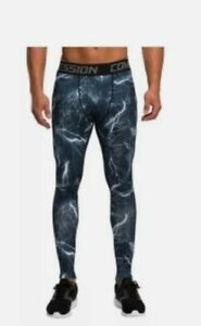 Vansydical Men's Compression Pants Tights Leggings XL