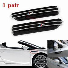 2x  BMW M3 3 Series E36 E46 E90 Black Side Fender Air Flow Vents Grille Grill