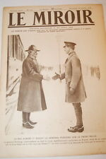 GUERRE 14 18-WW 1-LE MIROIR N°217 ALBERT 1er BREST LITOVSK RUSSIE MARINE