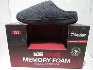 32 Degrees Heat Charcoal Boiled Wool Thinsulate Weatherproof Clog Slipper M(8-9)