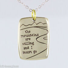 "Far Fetched - The Mountains are Calling and I Must Go - Necklace 16-18"" Chain"