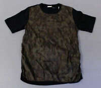 Dries Van Noten Men's S/S Quilted-Front T-Shirt MC7 Multi-Color Medium NWT