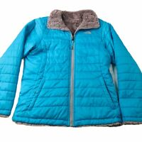 THE NORTH FACE Kids Girls Reversible Moss Bud Swirl Jacket Coat Size XL/16-18
