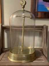 Pb Teen Glass Dome Bell Jar with Necklace/Jewerly Stand Pottery Barn Very Heavy!