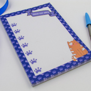 Tabby Cat Note Pad - Ginger Cat