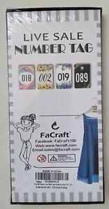 FaCraft Paper Live Sale Number Tags FLORAL 001-100