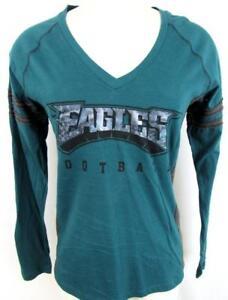 Philadelphia Eagles Womens S M or 2XL Screened Iridescent T-shirt AEAG 176