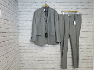 BNWT Hawes & Curtis Men's Monochrome Houndstooth Suit Set Size 58W, 48J (DN127F)