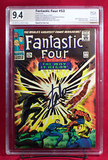 FANTASTIC FOUR #53 (Marvel) PGX 9.4 NM 2nd BLACK PANTHER signed STAN LEE!! +CGC!
