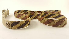 "DIESEL Brown Tan Braided Leather Belt 100 40"" Italy 93243 FREE SHIPPING!"