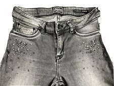 "Grey Vintage SUPERDRY Studded Skinny Jeggings Jeans  Size UK 10 W28"" L32"""