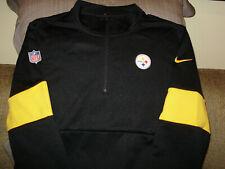 NFL Pittsburgh Steelers Nike Therma Dri-fit Sideline 1/2 Zip Golf Jacket Men Lge