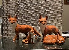 More details for 2 large old beswick pottery standing fox, small beswick fox& beswick curled fox