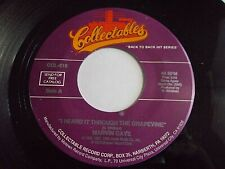Marvin Gaye I Heard It Through The Grapevine / You 45 Collectables Vinyl Record