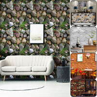3D Vintage Brick Wall Paper Living Room Waterproof Wall Sticker Home Decor Decal