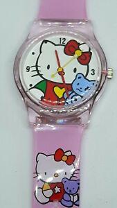 Children's Kitten Faced Quartz Watch With Kitten Design Strap