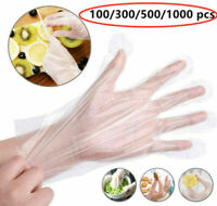 100-1000PCS Plastic Clear Gloves Food Prep Cleaning Home Healty Kitchen Cooking