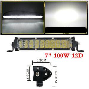 "1Pcs Ultra-thin 100W 7"" LED Light Bar Spot Beam For Offroad SUV LED Work Light"