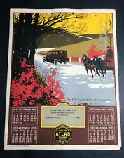 1919 Calendar Sign Bickford  Cement Curwensville Pa Pennsylvania Car Horse Buggy