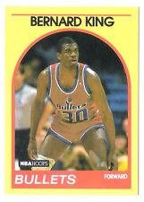 b4ea6e5bb9b6 Bernard King 1989 NBA Hoops Washington Bullets insert Basketball card no.99