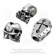 New Alchemy Gothic Pewter Pagan Hair Beard Beads Janus Alchemist Coffin Trio