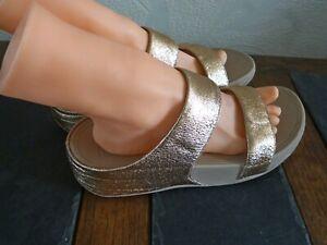 Fit Flops Rose Gold Slip On Sandals Uk Size 7 EUR41 Style V63-323