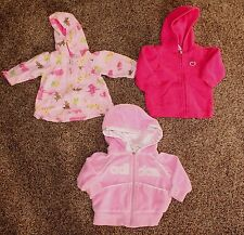 Adidas & Carter's Girl's Lot of 3 Hoodies New & Gently Used Size 0-3 Months