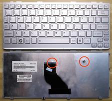 Keyboard for Toshiba Mini NB200 NB205 NB250 NB255 Series Laptop Silver Frame