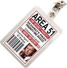 Cigarette Smoking Man XFiles Area 51 ID Badge Costume Cosplay Prop Name Tag XF-4