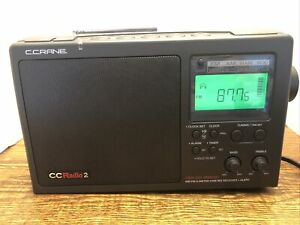 C. Crane CCRadio 2 - Portable AM/FM/WX/2 Meter Ham Band - TESTED WORKS GREAT!