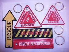 SET OF 5 RAF remove before flight martin baker ejection seat  rescue keyrings