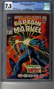 Marvel Super-Heroes (1967) # 13 - CGC 7.5 OW/White Pages - First Carol Danvers