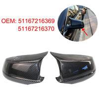 Car Auto Carbon Fiber Door Side Mirror Cover Cap Parts For BMW F10 F11 Pre-LCI