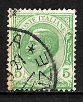 Varietà - 1906 - Leoni  cent 5 - sassone 81a - Mancanza degli Ovali